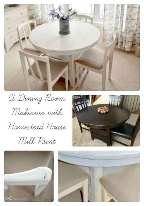 A Dining Room Makeover with Homestead House Milk Paint in Limestone