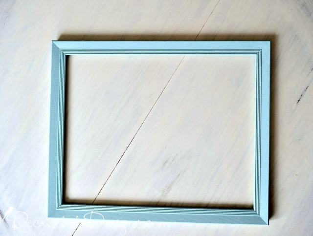 thrift store frame painted with Country Chic Paint in Ocean Breeze
