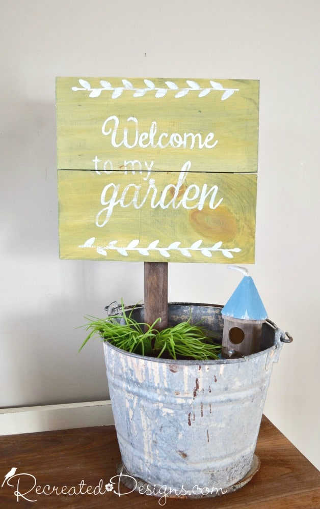 Welcome To My Garden Sign Class