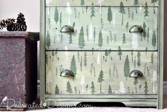 Royal Design Studio Timberaland stencil for Canada 150 dresser