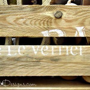 stenciled pallet wood