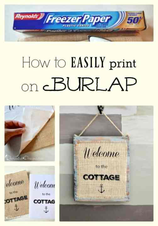 The Easiest Way to Print on Burlap - Recreated Designs