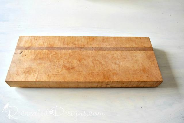 old solid wood butcher block cutting board