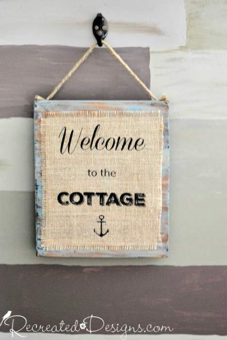 Welcome to the Cottage Sign