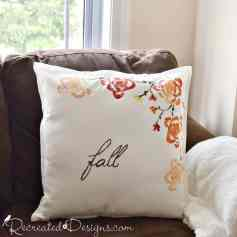 Fall pillow made using celery stalk end and paint