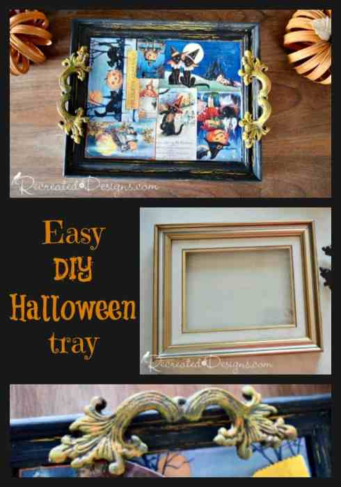 Make an Easy DIY Halloween tray