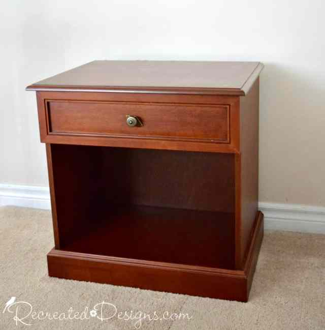 night stand from Habitat for Humanity before makeover