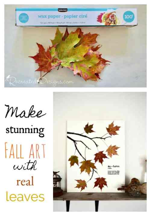 Make stunning Fall Art with Real Leaves