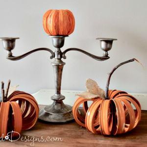 mason jar ring pumpkins