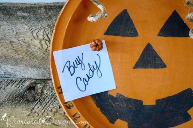 metal pumpkin and magnet