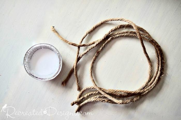 rope and white glue