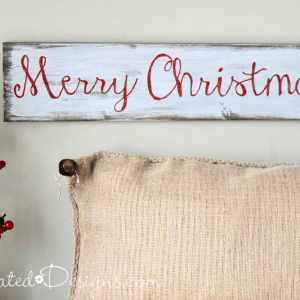 an easy DIY Christmas sign