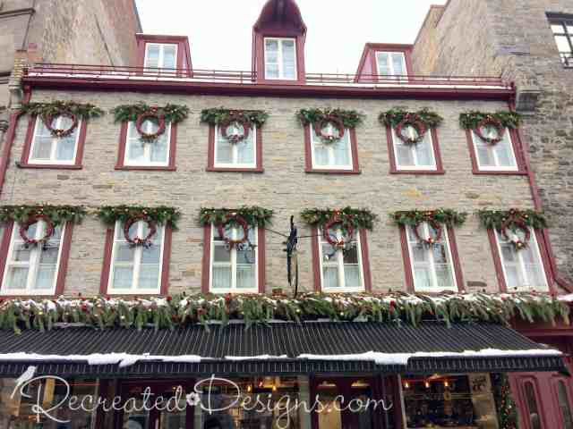Gorgeous old building in Old Quebec City Canada