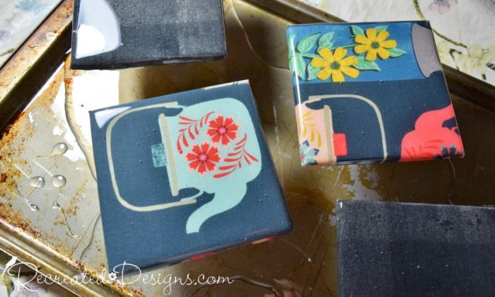 Make Fun Coasters With Your Favourite Fabric and Resin