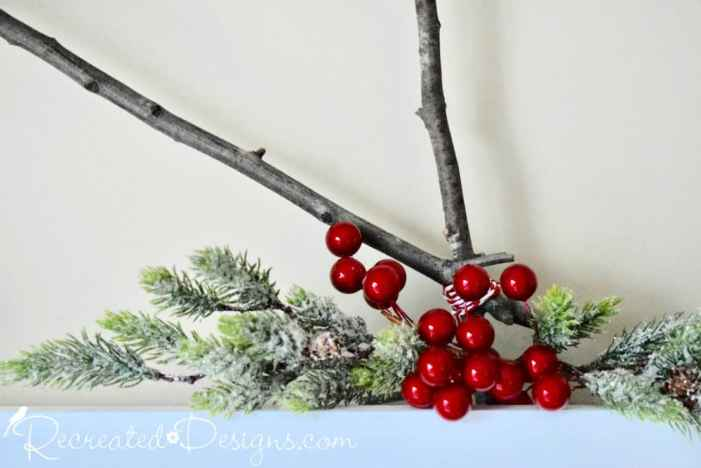 red berries with greenery and twig star