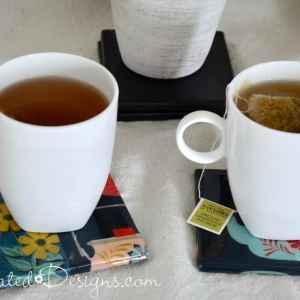 Spoonflower teapot fabric under resin