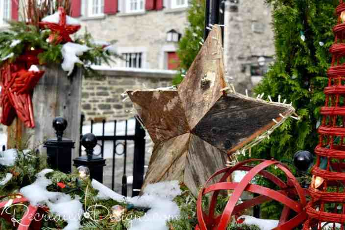 wood star in Old Quebec City travel