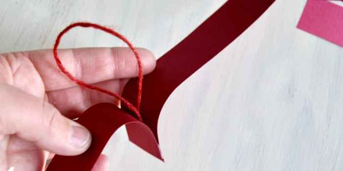 Easy DIY Paper Heart Garland for Valentine's Day