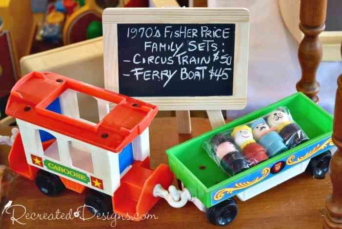 vintage Fisher Price toys found at 613flea in Ottawa, Canada