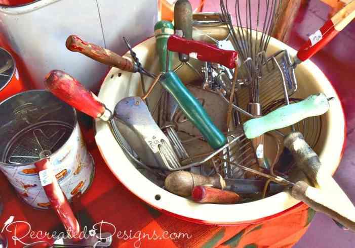 vintage kitchen tools at 613 flea in Ottawa