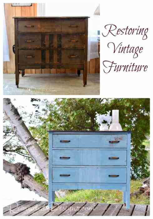 restore, don't just upcycle vintage furniture