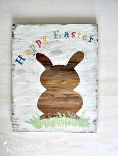 Using a Recreated Designs pattern to make a Happy Easter Sign