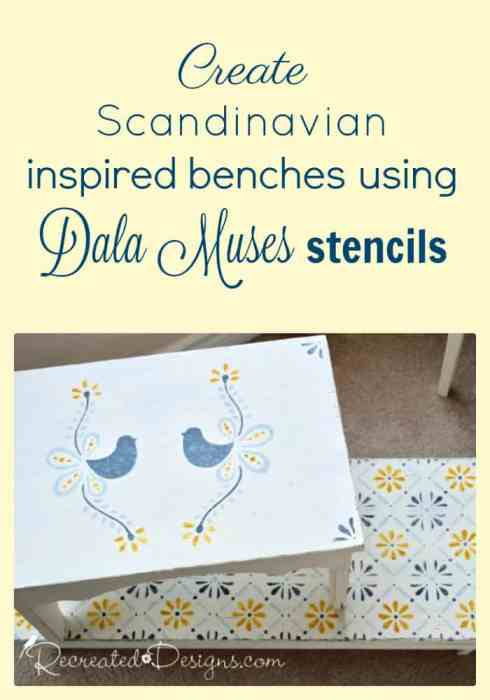 Create Scandinavian inspired benches using Dala Muses stencils