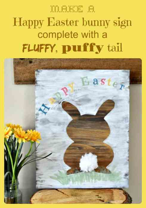 making a Happy Easter sign using a Recreated Designs pattern