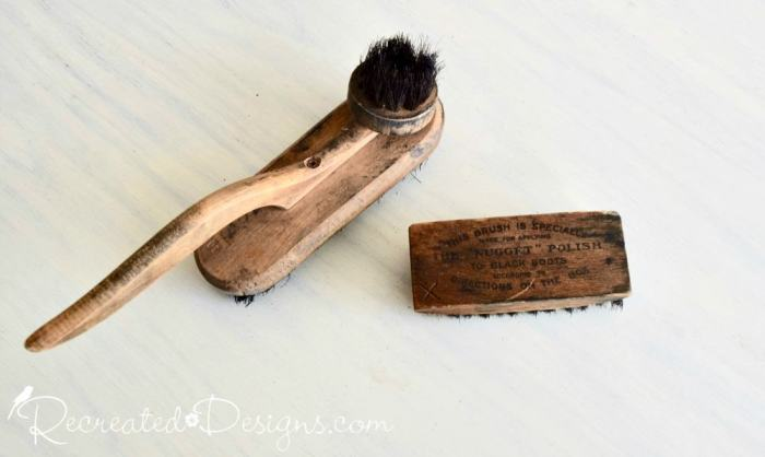 very old shoe brushes