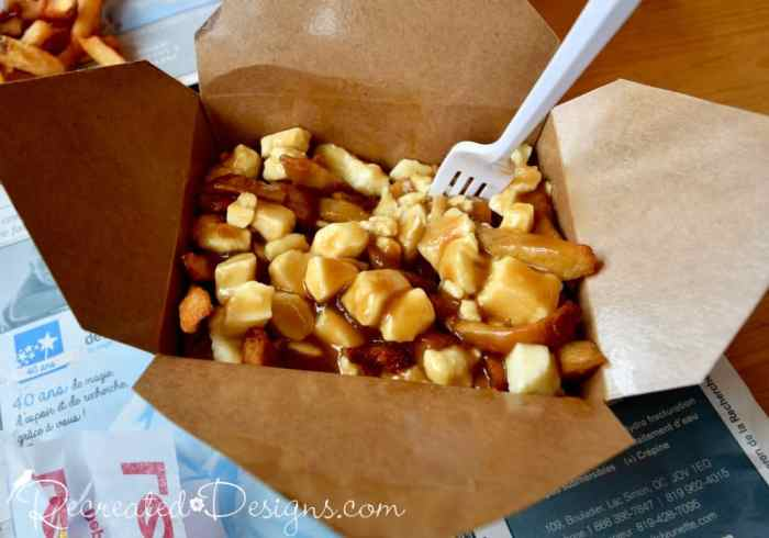 poutine with fries, gravy and curds