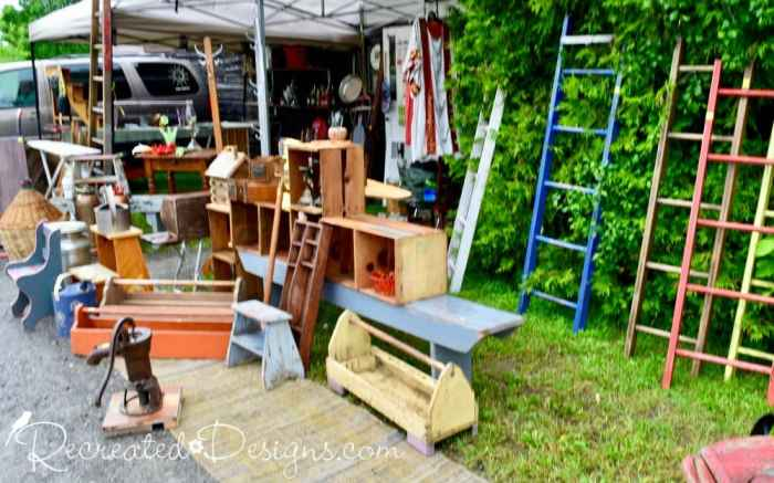 vintage wares and finds Finnegan's Flea Market Hudson Quebec
