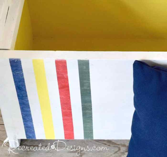 painted Hudson Bay stripes