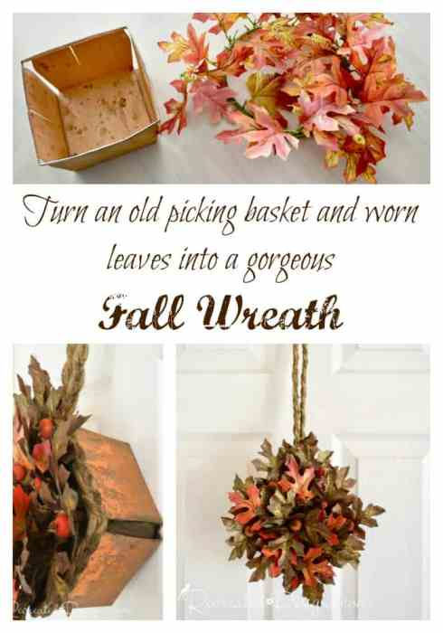 Making a Fall wreath from an old picking basket with Recreated Designs