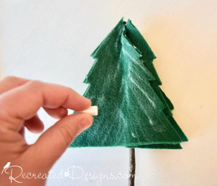 adding chalk dimension to felt trees
