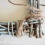 using Hemp Twine to make a frame