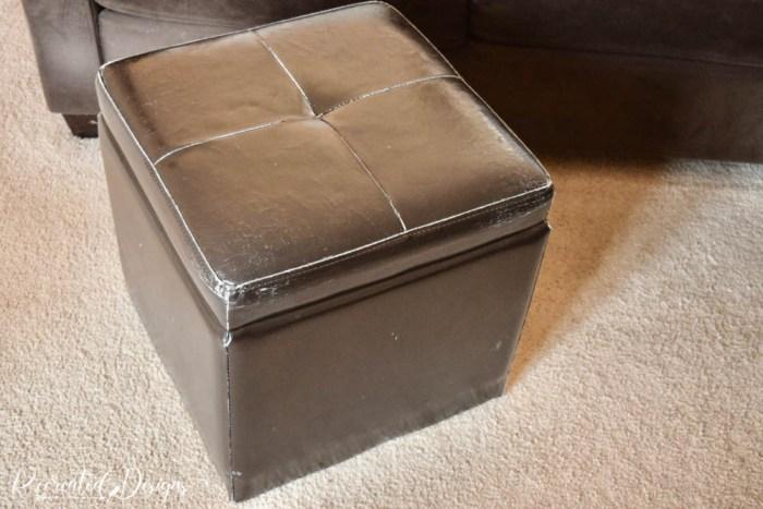 worn and damaged storage cube