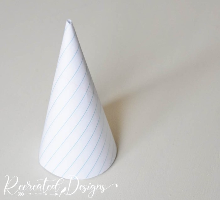 a cone made out of paper