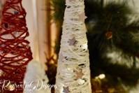 birch bark stars on a string tree