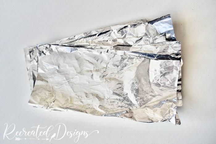 tin foil strips cut up