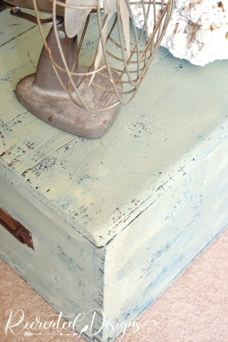 Vintage Laurel milk paint by Fusion on wood