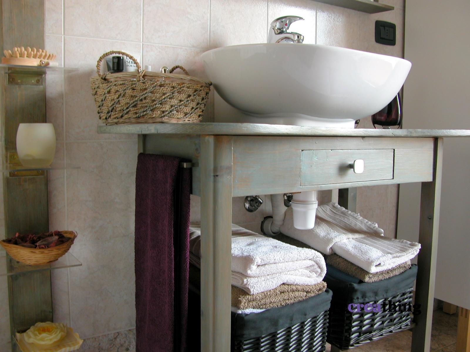 Il mio nuovo bagno recreathing - Lavandini con mobiletto ...