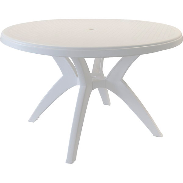 ibiz round pedestal poolside table