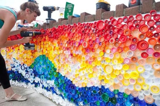 muro en mosaico