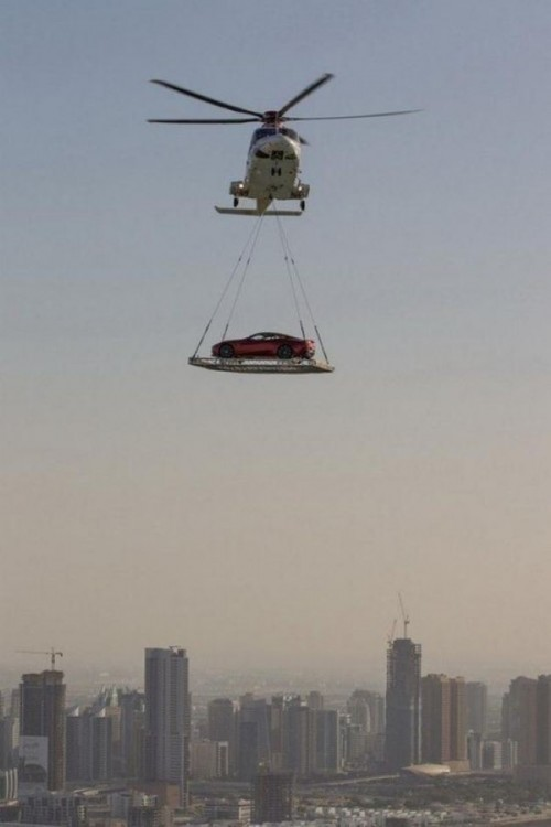 Helicóptero en Dubai