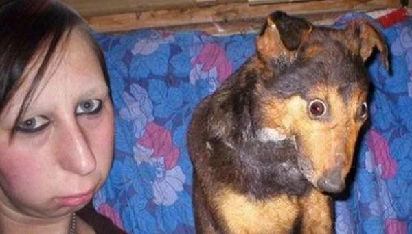 perro que se parece a su dueña
