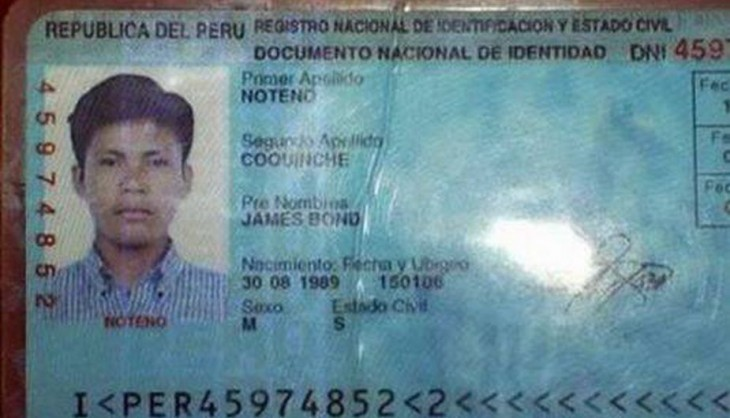 Peruano llamado James Bond