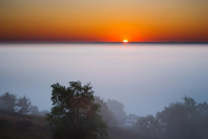 Paisaje de una puesta de sol en Nebraska, EE. UU.