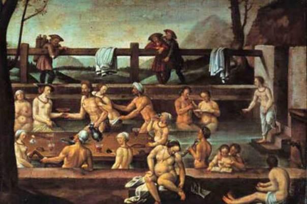 baños compartidos en la Edad Media