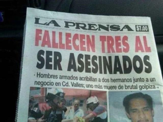 FALLECEN TRES AL SER ASESINADOS