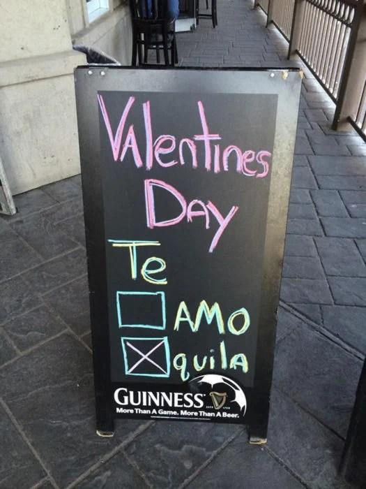 Anuncio de bar Día de San Valentín